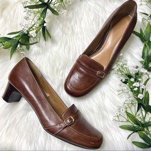 Naturalizer | Hazelnut Brown Dacapo Loafer Heels